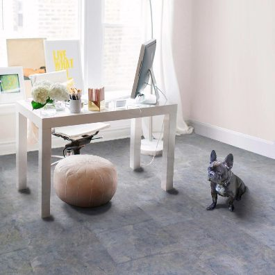 Serenity heart slate cork flooring in the office | Terry's Floor Fashions